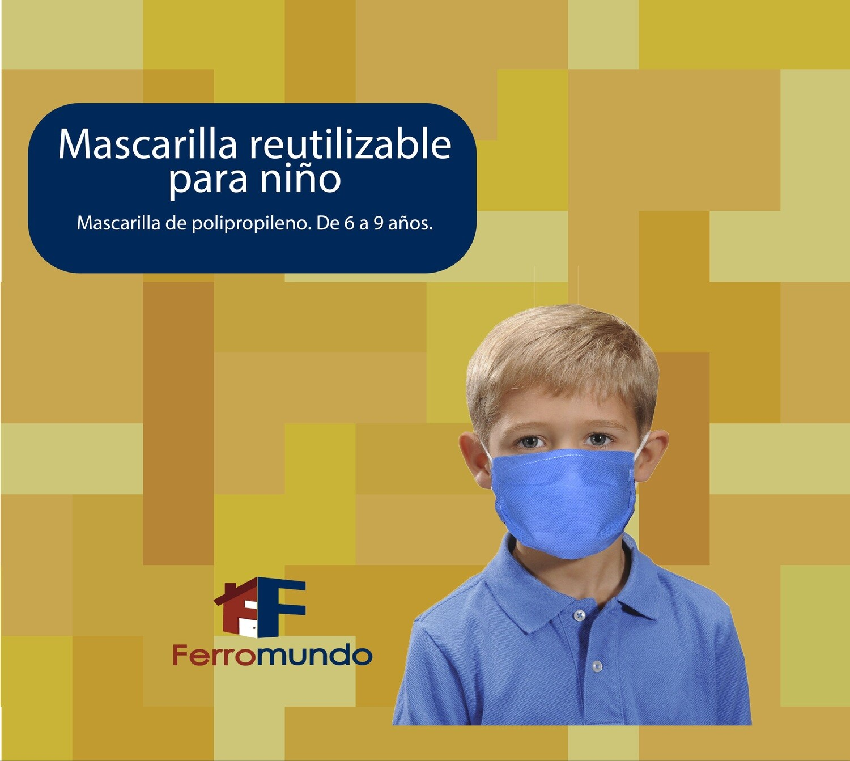 Mascarilla polipropileno para niño 6 a 9 años - 4 unidades