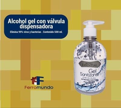 Alcohol gel 500 ml con valvula dispensadora