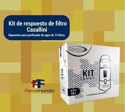 Kit de repuesto para filtro purificador de agua Casallini