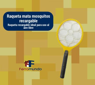 Raqueta mata mosquitos recargable sin lampara