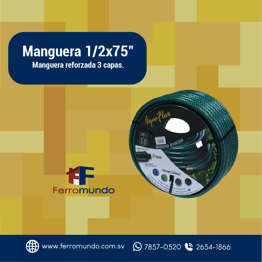 "Manguera 1/2x75"""