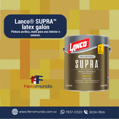 Lanco® SUPRA™  latex  galón