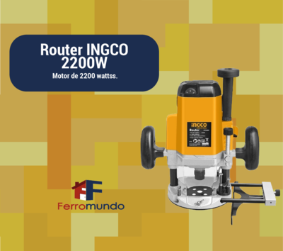 Router 3 HP base fija 2200 W velocidad variable INGCO