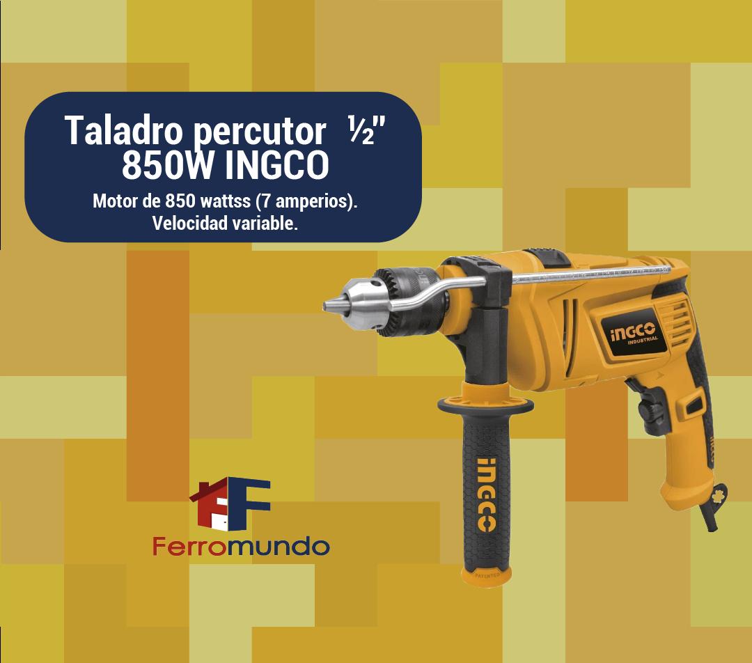"""Taladro percutor  ½"""" 850W INGCO"""