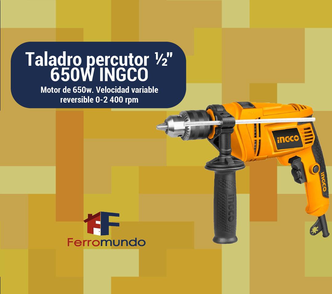 """Taladro percutor ½"""" 650W INGCO"""