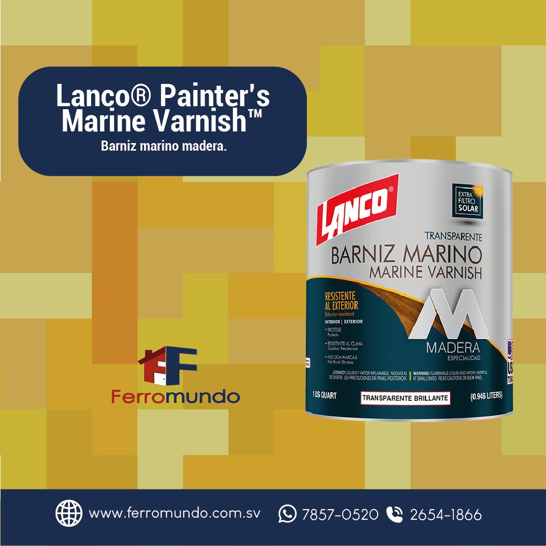 Barniz marino Lanco® Painter's Marine Varnish™ cuarto