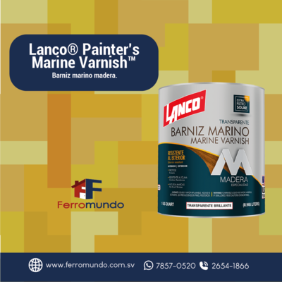 Barniz marino Lanco® Painter's Marine Varnish™ cuarto