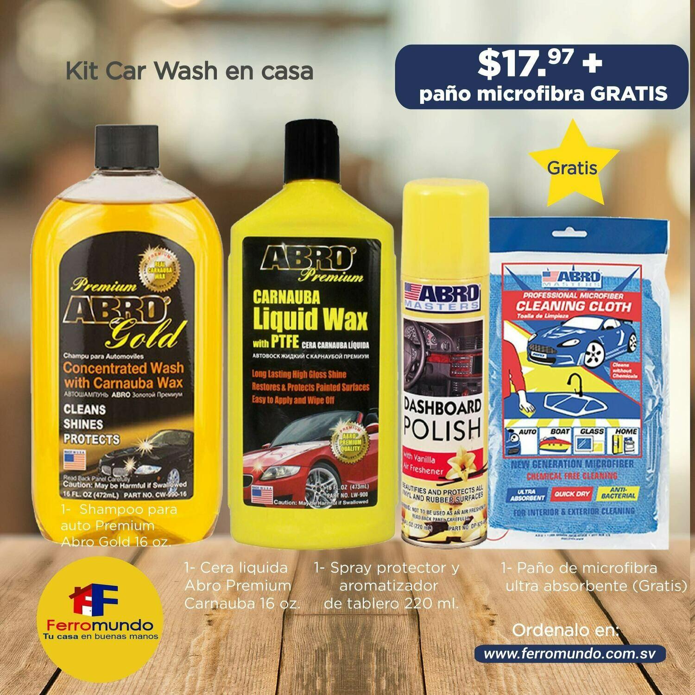Kit Car Wash en casa
