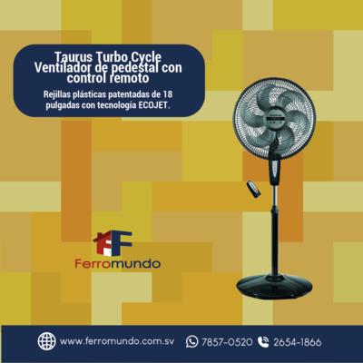 Taurus ® Turbo Cycle Ventilador de pedestal con control remoto
