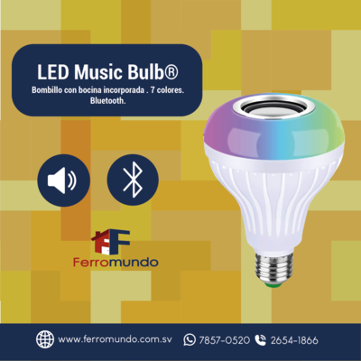 LED Music Bulb 7 Watts