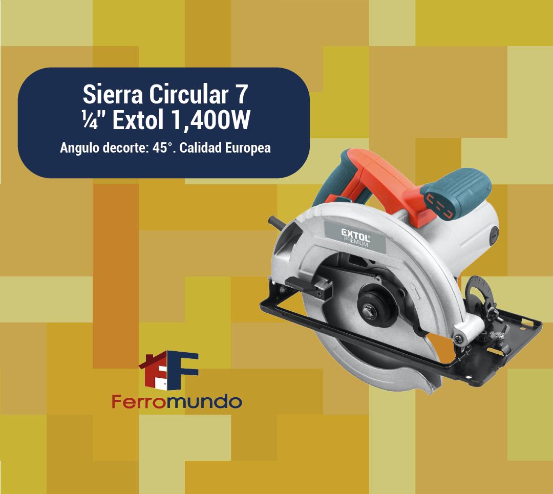 """Sierra Circular 7  ¼"""" Extol 1,400W"""