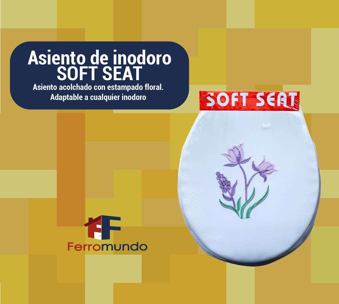 Asiento de inodoro SOFT SEAT con estampado floral