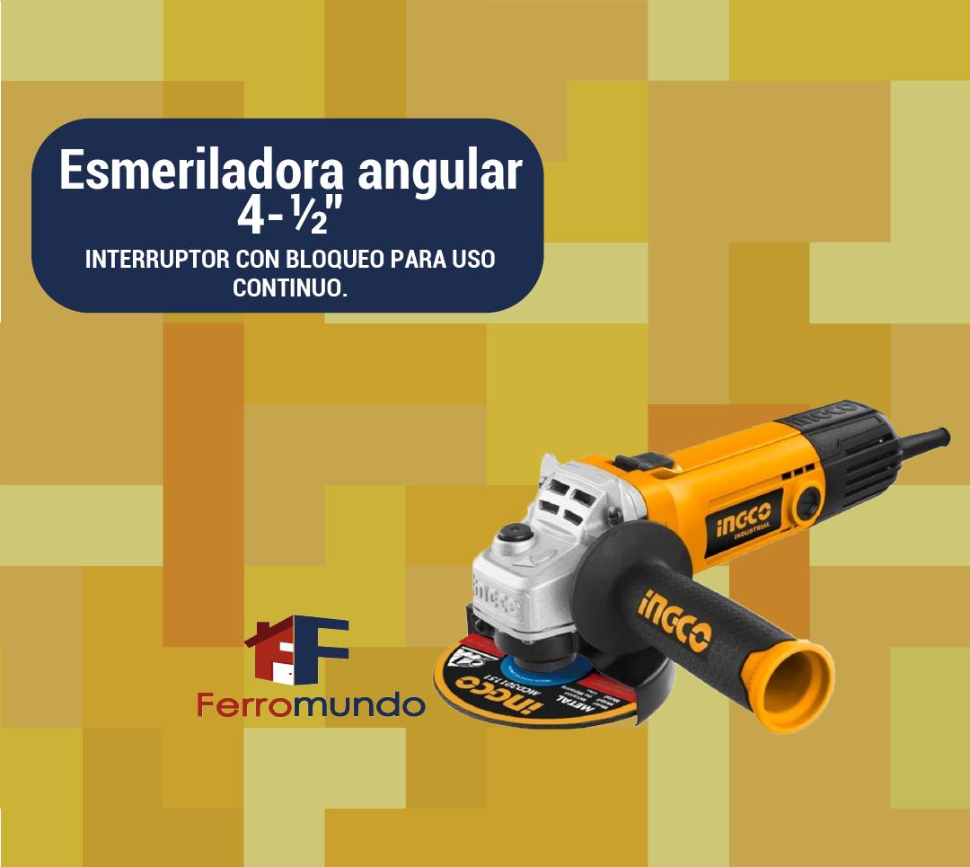 "Esmeriladora angular 4-½"" INGCO"