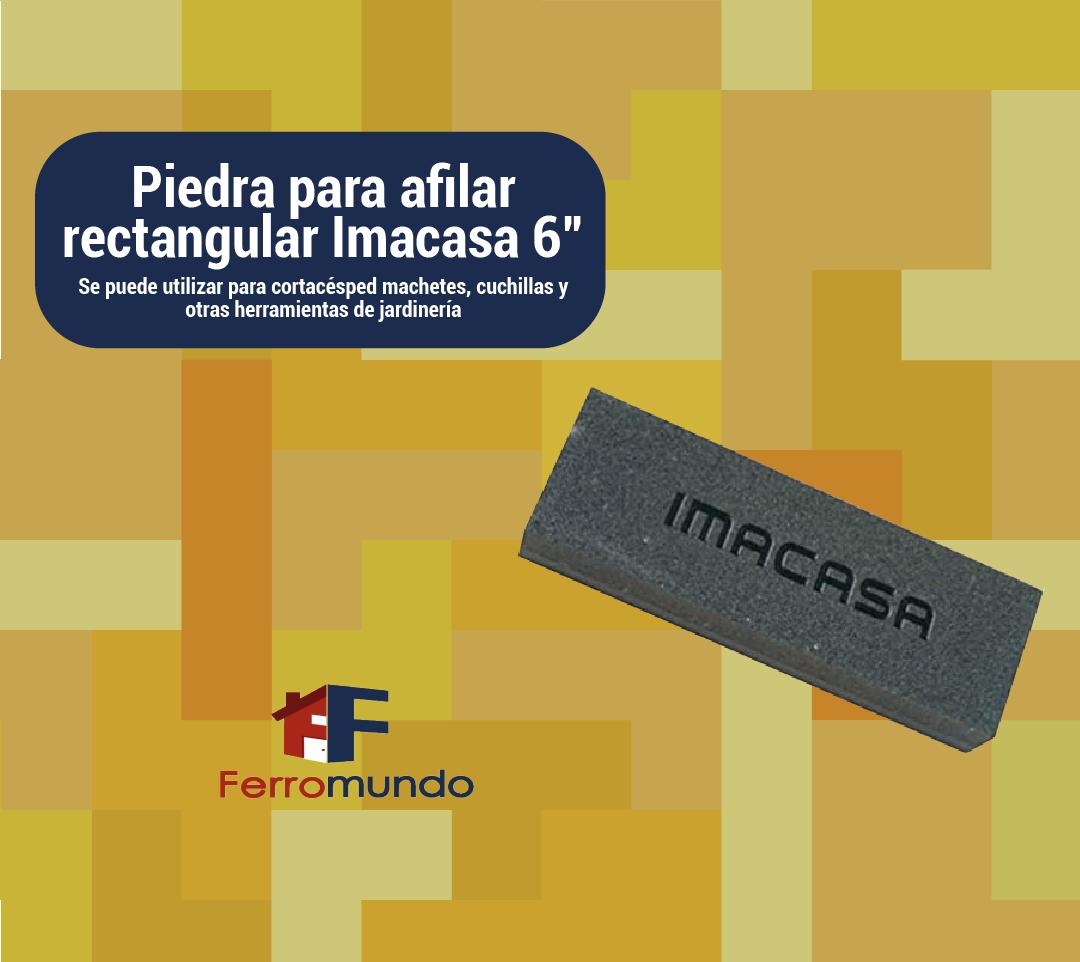 """Piedra para afilar rectangular Imacasa 6"""""""