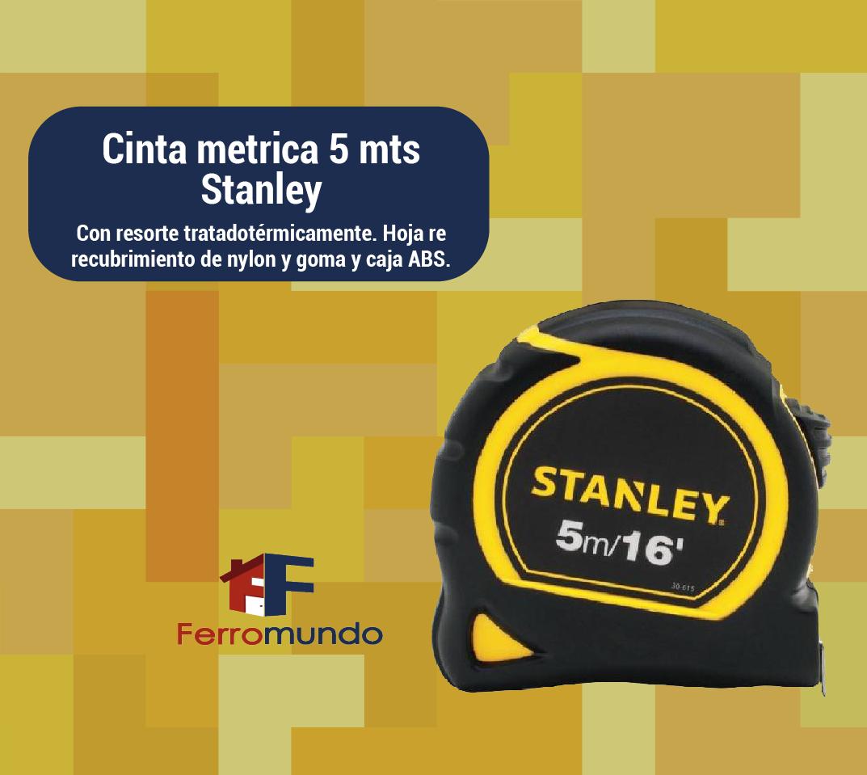Cinta metrica 5 mts Stanley