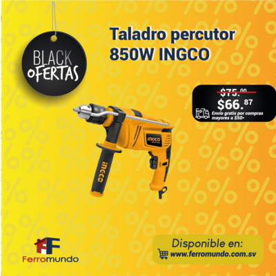 Taladro percutor 850W INGCO