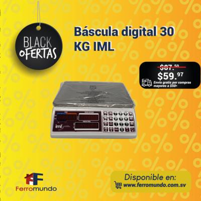 Bascula digital 30 KG IML.