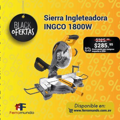 Sierra Ingleteadora INGCO 1800W.