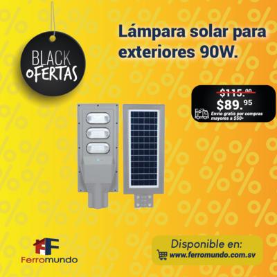Lámpara solar para exteriores 90W.