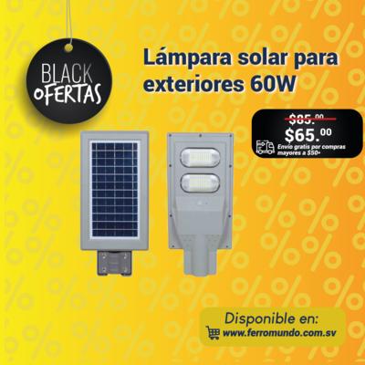 Lampara solar para exteriores 60W.