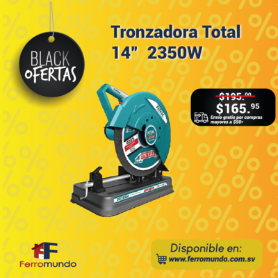"""Tronzadora Total 14"""" 2350W"""