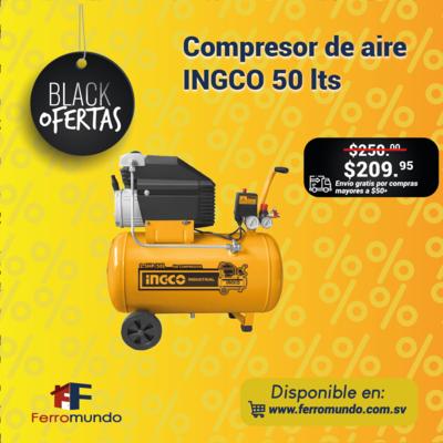 Compresor de aire INGCO 50 lts.