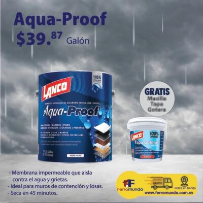 Impermeabilizante Aqua-Proof + masilla tapa goteras