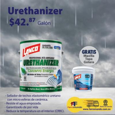 Impermeabilizante de techo Urethanizer galón + masilla tapa goteras