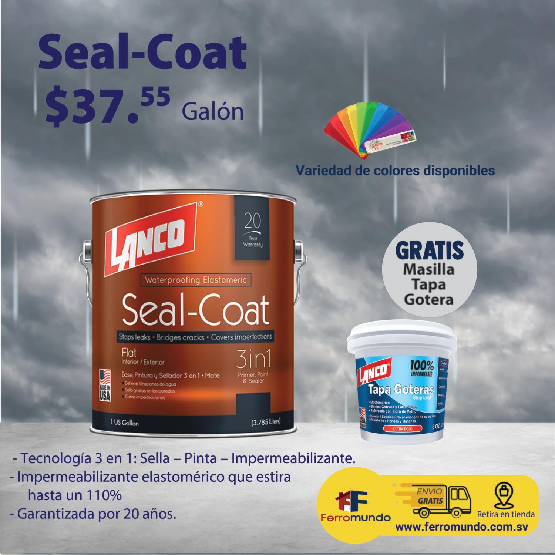 Lanco® Seal-Coat™ 3 en 1 galón + masilla tapa gotera