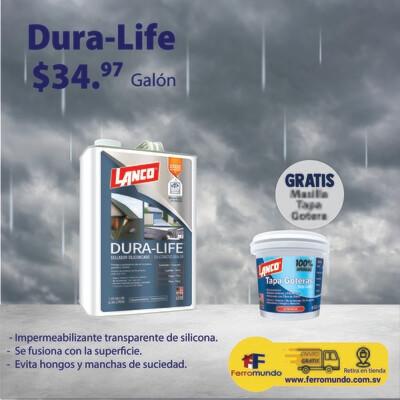 Lanco® Dura Life™ Impermeabilizante + masilla tapa goteras