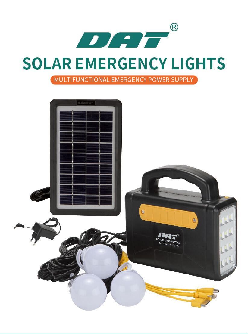 Panel Solar, Lampara, Radio y batería