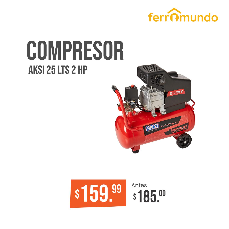 Compresor 25 lts 2 HP AKSI