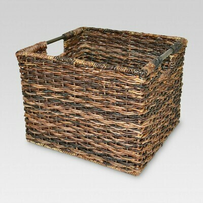 Wicker Milk Crate