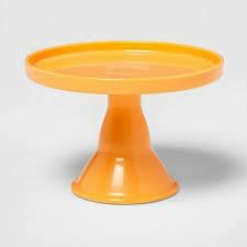 Plastic Cake Serving Stand Orange