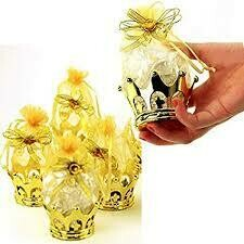24pc Fillable Gold Crown Pouch