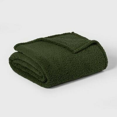 Green Sherpa Blanket Q R:20.00