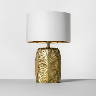Gold Leaf Lamp