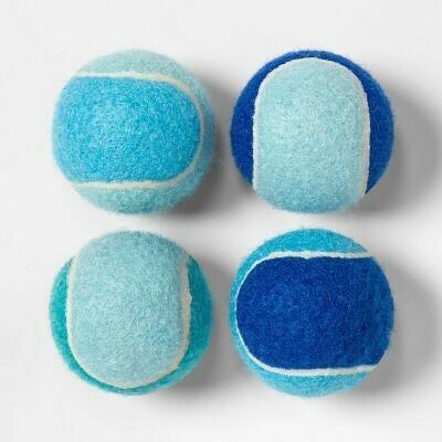 Tennis Ball Dog Toy - 4pk