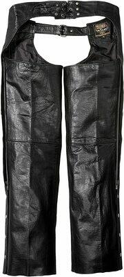 2X Leather Chaps Black