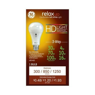 Relax White Equivalent 3 way LED HD
