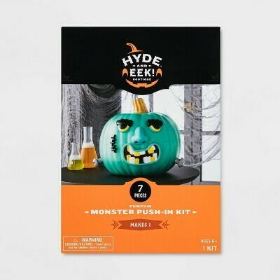 Monster Face Halloween Pumpkin Push-In Decorating Kit - Hyde & EEK! Boutique