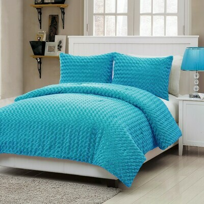 Twin Blue Comforter Set