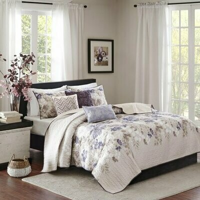 K/Cal King 6 pc Coverlet Set