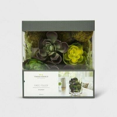 6.7oz Unscented Succulent & Moss Ball Vase Filler Green