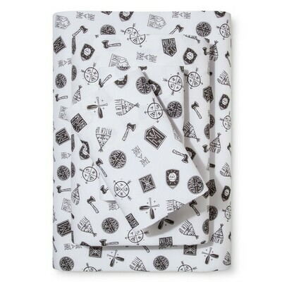 Camp Patches Printed Cotton Sheet Set 3pc