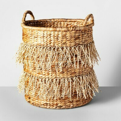 Hyacinth Fringe Basket