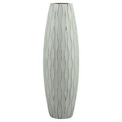 Pale Ocean Wood Vase