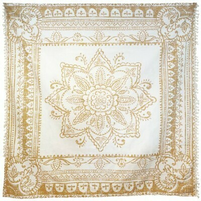 Tapestry Wall Decal Gold