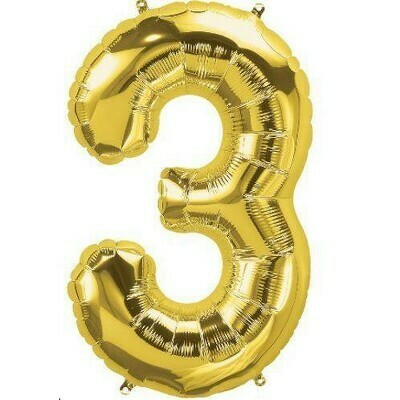 Number 3 Foil Balloon
