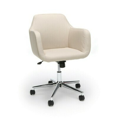 Upholstered Adjustable Home Office Chair with Wheels